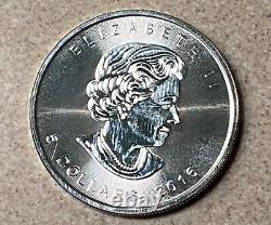 Roll of 25 2016 Queen Elizabeth $5.00 Maple Leaf Proof Coin. 9999 Silver