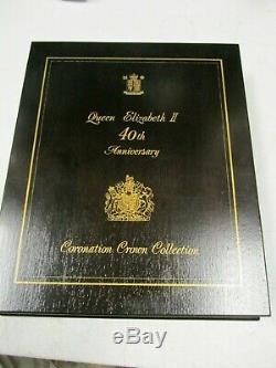 RoyalMint Queen Elizabeth II 40th Anniversary Coronation Silver Crown Collection