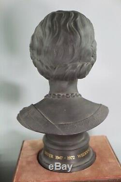 Royal Doulton Queen Elizabeth Duke Edinburgh Silver Wedding Basalt Busts