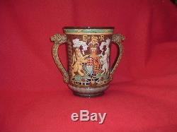 Royal Doulton Silver Jubilee Queen Elizabeth II Loving Cup No. 22 of Only 250