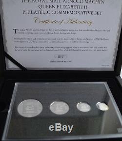 Royal Mail Arnold Machin Queen Elizabeth II Philatelic Commemorative Silver Set
