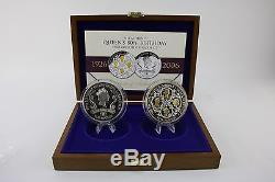 Royal Mint 2006 Silver Proof 5 Ounce Queen Elizabeth II 80th Birthday £10 2 Coin