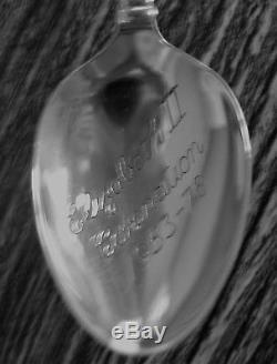 SET OF 6 H/M SILVER QUEEN ELIZABETH II JUBILEE CORONATION 1953-1978 SPOONS 79g