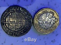 SILVER QUEEN ELIZABETH 1st HAMMERED 1582 RARE COIN