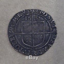 SILVER SIXPENCE 1602 M. M. I. COIN QUEEN ELIZABETH I GOOD VERY FINE GRADE
