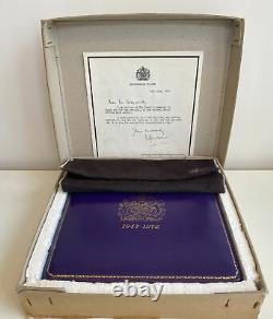 SOLID SILVER Queen Elizabeth Silver Wedding Anniversary Salver 1972