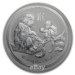 Silver 10 Oz Ounce 2016 Australia Silver Lunar Monkey Bullion Queen Elizabeth