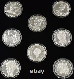 Silver Proof Coin Set Queen Mother Queen Elizabeth II King George VI. 925 Coins