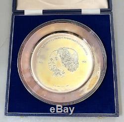 Solid Silver Queen Elizabeth II 200 Anniversary USA Independence PIETRO ANNIGONI