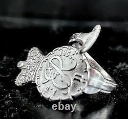 Solid sterling silver vintage 1953 QEII Queen Elizabeth spoon ring SIZES H I J