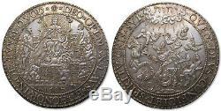 Spanish Netherlands AR 52mm medal 1587 on Queen Elizabeths I support for Dutch