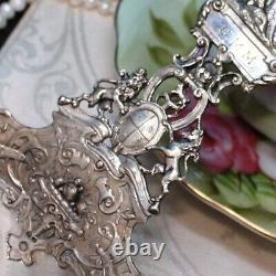 Sterling BIG Antique Queen Elizabeth I Bonbon Server 9 Like Gorham H78