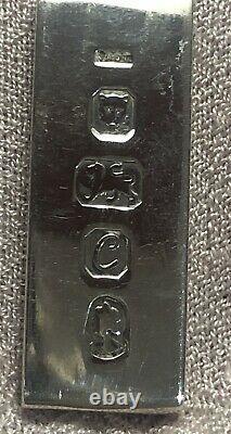 Sterling Silver 1977 Queen Elizabeth Jubilee Ingot 1oz Pendant and Chain Vintage