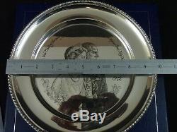 Sterling Silver Commemorative Plate Queen Elizabeth Royal Anniversary 1972
