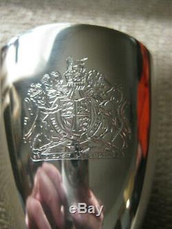 Sterling Silver Goblet Queen Elizabeth Jubilee Hallmarks Courtman 1977 228 Grams
