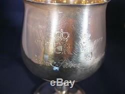 Sterling silver goblet 25th wedding anniversary of Queen Elizabeth II 1972