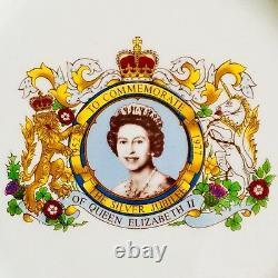 Superb Quality Queen Elizabeth II Silver Jubilee 9/22cm Ironstone Plate