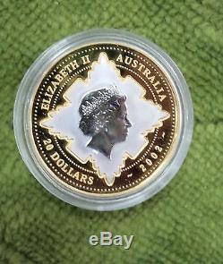 #T48. AUSTRALIAN 2002 GOLD & SILVER QUEEN ELIZABETH II ACCESSION COIN