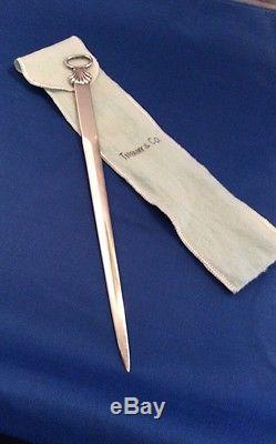 TIFFANY &CO. Sterling Silver LETTER OPENER 1953 QUEEN ELIZABETH II CORONATION