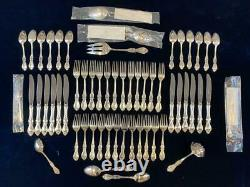 TOWLE Queen Elizabeth I Sterling Silver 57pc Service for 12 Serving Spoon Extras