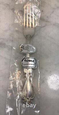 TOWLE Sterling Silver 1970 Queen Elizabeth I Dinner Fork 7 3/4 New