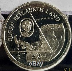 The Naming of Queen Elizabeth Land Commemorative Silver Coin Cover