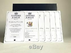 The New Queen Elizabeth II Sapphire Jubilee Rolled Silver Proof Coin Collection