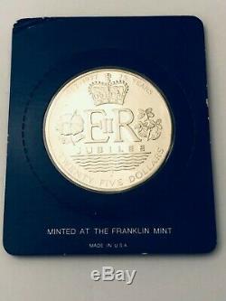 The Queen Elizabeth II $25 Dollar Sterling Silver Proof Coin-1977 Cook Islands