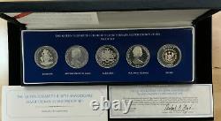 The Queen Elizabeth II 30th Anniversary Silver Crown Coins Proof Set