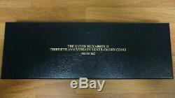 The Queen Elizabeth II 30th Anniversary Silver Crown Coins Proof Set with COA 1983