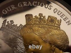 The Queen Elizabeth II 90th Birthday Pure Silver 5oz Diamond-Set Proof Coin