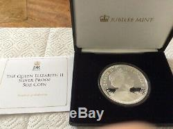 The Queen Elizabeth II Silver Proof 5oz Coin Five Crown Coin