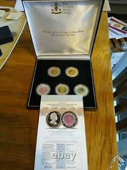 The Queen Mother Silver Coin proof Collection. The life of HM Queen Elizabeth