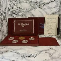 The Royal Ladies Silver Coin And Medallion Set 40th Ann. Of Queen Elizabeth II