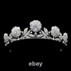 The Strathmore Rose Royal Tiara Queen Elizabeth The Queen Mother Cubic zirconia