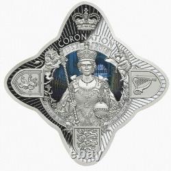Tokelau 2018 Royal Star Queen Elizabeth II Coronation 65th $1 Oz Silver JUST 900