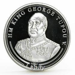 Tonga 1 paanga Diamond Jubilee of Queen Elizabeth Wedding proof silver coin 2012