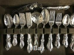 Towle Queen Elizabeth I Sterling Flatware Set 88 Pieces Very Complete