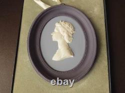 Tri-Colored Wedgwood Jasperware Queen Elizabeth II Royal Silver Jubilee Plaque