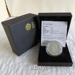 UK 2008 QUEEN ELIZABETH I £5 PIEDFORT SILVER PROOF CROWN complete