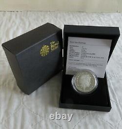 UK 2008 QUEEN ELIZABETH PIEDFORT £5 SILVER PROOF CROWN boxed/coa/outer