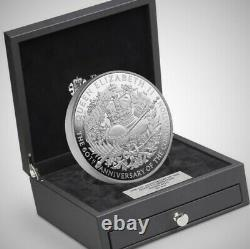 UK £500 kilo kg silver coin 2013 60 years Queen Elizabeth coronation 029/301