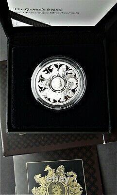 UK Elizabeth II 2021 Queens Beasts £2 Completer Silver Proof 1oz in RM case