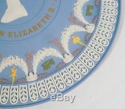 VERY RARE WEDGWOOD 5 COLOUR JASPERWARE Plate QUEEN ELIZABETH SILVER JUBILEE