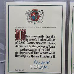 VINTAGE STERLING SILVER HALLMARKED COMMEMORATIVE PLATE HM QUEEN ELIZABETH 1978