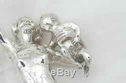 Very Rare Queen Elizabeth II Hm Sterling Silver Bacchante Statue 1963