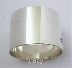 Vintage 1953 Solid Britannia Silver Napkin Ring Queen Elizabeth Coronation Mark