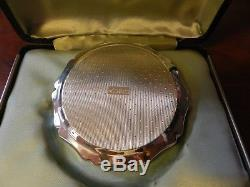 Vintage 1977 Powder Compact Queen Elizabeth II Silver Jubilee Wedgwood LTD