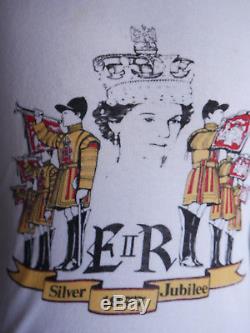 Vintage 1977 Queen Elizabeth Silver Jubilee T-Shirt Wow Rare! Made in U. K