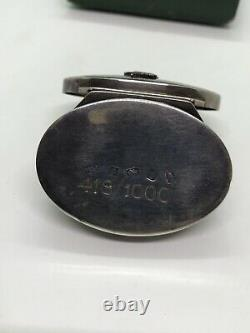 Vintage Enamel Solid Silver Queen Jubilee Snuff Box Pill &Cert 1952-1977 Bir1977